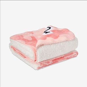 Victoria's Secret Pink Camo Sherpa blanket
